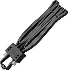 """UZI Black Disposable Flex Cuffs 1/2"""" Wide Heavy Duty Composition FLXCB"""