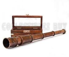 A Vintage 1915 Retro Sailor Marine Telescope Copper Antique Royal Navy Gift Item