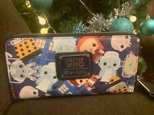 New w Tags Loungefly Doctor Who Zip Wallet Chibi RARE NWT