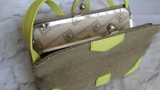 Jute Outer Patternless Handbags with Inner Pockets