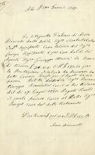 Pistoia - Ricevuta di Vitalizio per Tutrice 1869