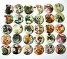 """CUTE KAWAII CATS One Inch BADGES x 30 Button Pins Set Lot Kittens Cats 25mm 1"""""""