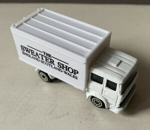 CORGI Juniors IVECO BOX Truck in SWEATER SHOP Livery White - Rear Opening DOORS