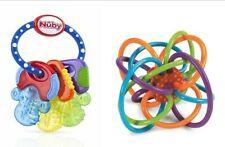 Lot of Nuby Ice Gel Teether Keys & Manhattan Toy Winkel Rattle & Teether