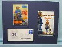 John Wayne & his only 3-D Movie - Hondo and the First Day Cover of the 3-D stamp