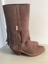 Valverde Del Camino Women's Brown Leather Western Boots, Size  38 / 7.5 - 8 M