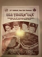 1973 New York Yankees Baseball Old Timers Day Program