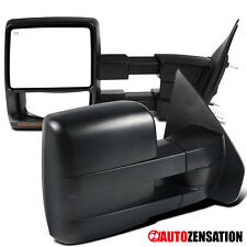 For 2004-2006 Ford F150 Black Power Heated Towing Side Mirrors+Amber LED Signal