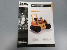 Leeboy 420 Roller Color Sales Brochure 4 Pages