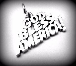 Retired Vintage James Avery God Bless America! Charm or Pendant