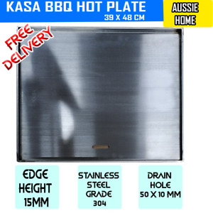 STAINLESS STEEL 304 GRADE BBQ GRILL HOT PLATE 48 X 32 CM PREMIUM HOTPLATE