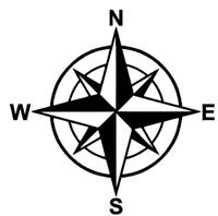 COMPASS STICKER Funny Caravan Swift Bailey JDM VAN Car Novelty Vinyl Decal