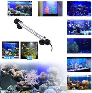 Aquarium Fish Tank SMD LED Light Bar Pool Submersible Lamp Waterproof White+Blue