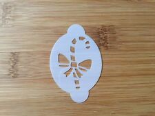 Face paint stencil reusable washable Christmas candy cane Mylar 190 microns