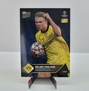 TOPPS NOW UCL 2021 Card #10 ERLING HAALAND UEFA AWARDS NEW BVB