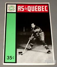 1963-64 AHL Quebec Aces Program Bill Carter Cover