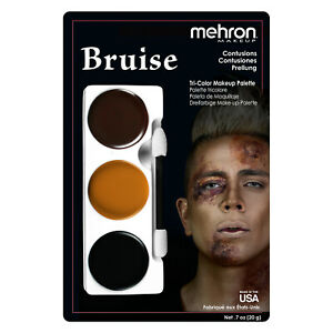 MEHRON MAKEUP TRI-COLOR ZOMBIE HALLOWEEN MAKEUP PALETTE PICK ANY CHARACTER !!!