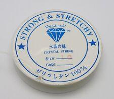 1 Rollo 4m fuerte Transparente Stretch Joyas cordón elástico - 0.7 mm-lb1386