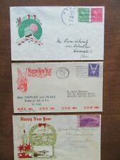 3 Happy New Year World War II WWII patriotic cover covers