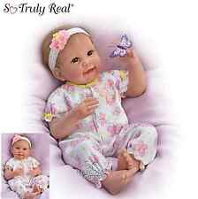 Ashton Drake  weighted Baby Doll 'Butterfly Kisses & Flower Petal Wishes'