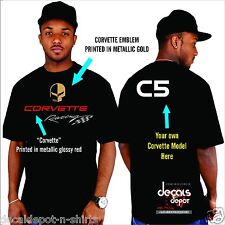 Custom Shirt for Chevy Corvette Drivers  C3 C4 C5 C6 C7 ZO6 Stingray Any Model