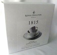 Royal Doulton Dinner Set Plate Bowl 1815 England 4 Piece White London Salad NIP