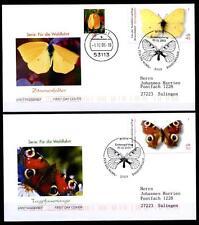 Schmetterlinge. 4FDC-Briefe. Bonn. BRD 2005