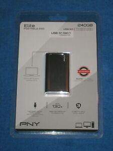 PNY Elite Portable SSD 240GB USB3.1 Gen 1 New!