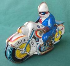 VTG 1950'S POLICE DEPARTMENT HIGHWAY PD FRICTION TIN MOTORCYCLE TOY PARTS REPAIR