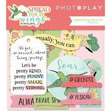 Scrapbooking Crafts Photo Play Die Cuts Spread Your Wings Kind Soar Bird Brave