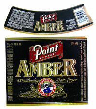 Stevens Point Brewery POINT CLASSIC AMBER beer label WI 12oz with neck Var #1