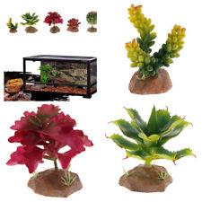 4 Pcs Reptile Vivarium Ornament Terrarium Desert Plant with Sturdy Base