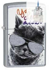 Zippo 29619 Cat With Glasses Lighter & Z-PLUS INSERT BUNDLE