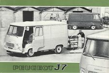 PEUGEOT J7 VAN BROCHURE.