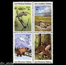 Wild Animals Habitats block of 4 mnh stamps 1981 USA #1924a
