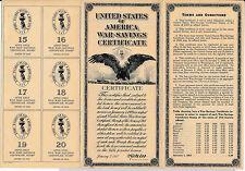 RC0152  1918    war-savings certificate combine shipping