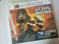 X3 Star Wars Express Mail Envelope w/ 1st Day Cover Stamps New Sealed Collectors
