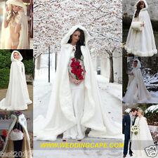 Long de l'hiver mariage nuptiale manteau cape vintage blanc / ivoire mariée cape