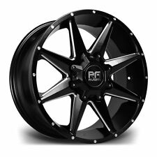 "17""RIVIERA RX200 BLACK POLISHED ALLOY 6x139 ET15 110 WHEELS FIT TOYOTA L-CRUISER"