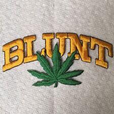 Brand New BLUNT Marijuana Mary Jane Leaf Iron On Patch Embroidery Gold Kush