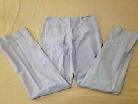 Womens Brooks Brothers Khaki Dress Pants 6 Blue Cotton Chino Slack 31x32