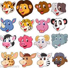 Stickers muraux enfant Tête d'animaux 30x30cm réf 3595