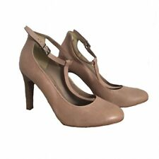 Autograph Nude High Heel Shoes Size UK 5.5 NWD £55 EU 39 Pink Buckle Strap