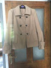 Women's Duffle coat beige matalan size 12.