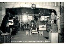 Inside Cloverland Museum-Taxidermy-Calumet-Michigan-Vintage Real Photo Postcard