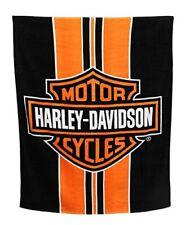 HARLEY-DAVIDSON Stripe Bar & Shield Large Beach Towel, 54 x 68 inch (Oversize)