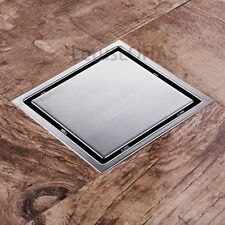 Bathroom Square Floor Waste Grate 304 Stainless Steel Invisible Shower Drain