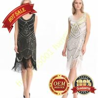 1920's 30S Flapper Dress Gatsby Charleston Sequin Fringe Vintage 20s Party dress
