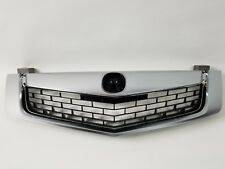 Brand New Acura TSX 09-10 Front Grill Grille Satin Finished Molding 3in one PC