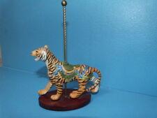 1988 Franklin Mint Fm Treasury Of Carousel Art Porcelain Figure Figurine Tiger